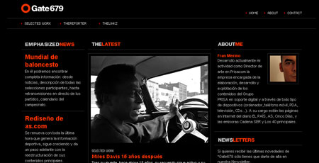 Black web design
