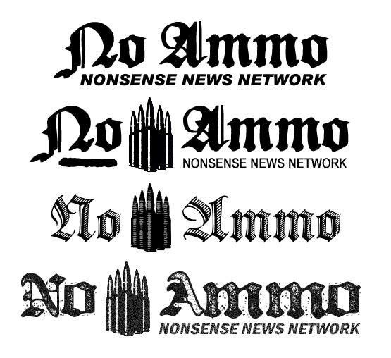 No Ammo Nonsense News Network logo variations