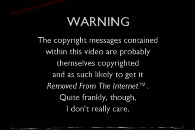 VHS copyright warnings