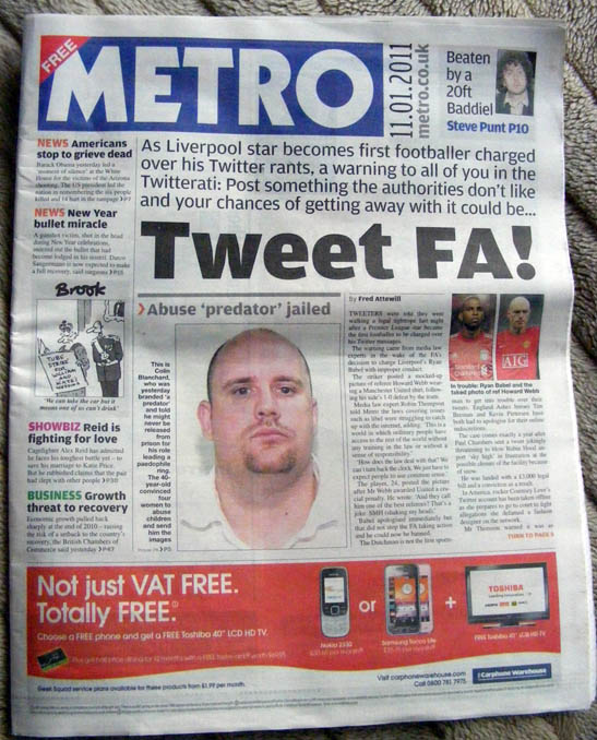Howard Webb Daily Metro Babel Twitter