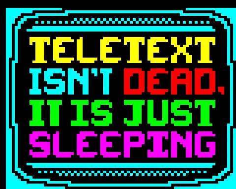 ITAF12 - Teletext isn't dead