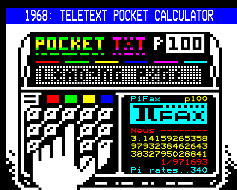 Teletext Pocket Calculator // Dan Farrimond