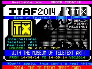 Teletext Debit Card // Dan Farrimond